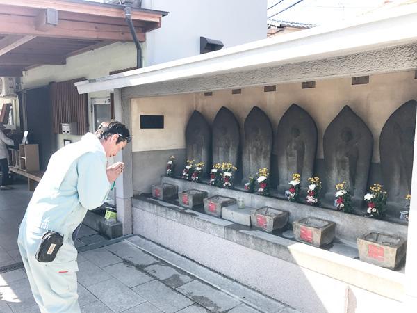 八尾植松墓地彫刻実績