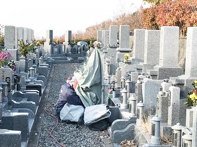 高槻市公園墓地_お墓の文字彫り