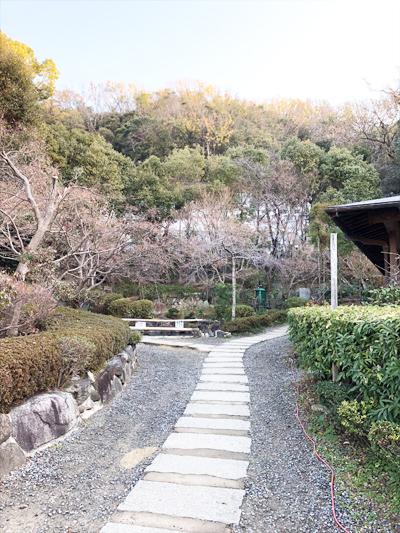 野崎観音 冬景色 文字彫り