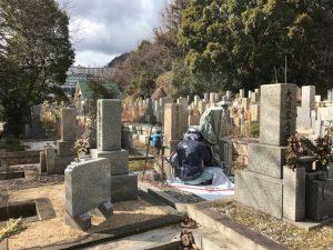 荒神山墓地にて追加彫刻