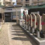 寝屋川市打上墓地で文字彫り
