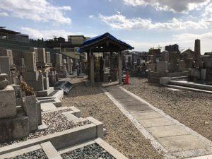 寝屋川市打上墓地で追加彫り