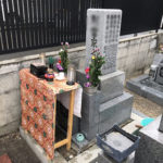 都島区友渕墓地で納骨式