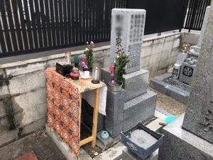 大阪市都島区友渕墓地で納骨式