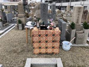 豊中市二大字墓地で納骨式