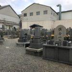 尼崎市の常光墓地で追加彫り