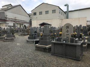 尼崎市の常光寺墓地で追加彫り