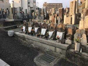 吹田市の佐井寺町霊苑でお墓の文字彫り