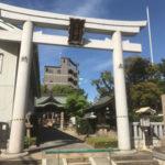 産土神社で玉垣への彫刻