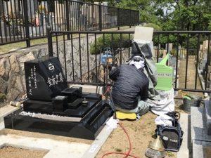 芦屋市霊園でお墓の文字彫り