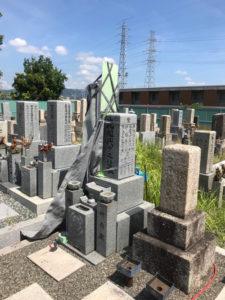 枚方市車塚共同墓地でお墓の彫刻