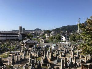宝塚市川面墓地で追加彫刻