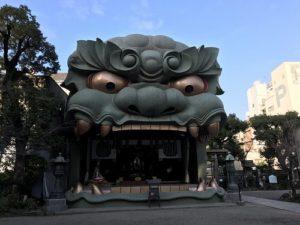 浪速区の難波八阪神社で記念碑に追加彫刻