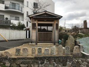 神戸市東灘区にあるお墓、小林墓地で文字彫刻
