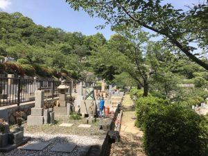 芦屋市の芦屋霊園で追加彫刻
