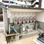 八尾市の安中墓地で墓石に名前彫刻