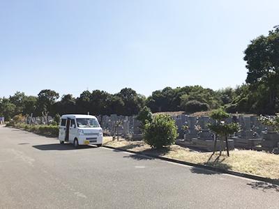 明石市石が谷墓園でお墓への戒名彫刻でした。