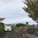 奈良市の七条町南山墓地で墓石への名前彫り