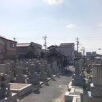 八尾市の萱振墓地で墓石への文字彫刻
